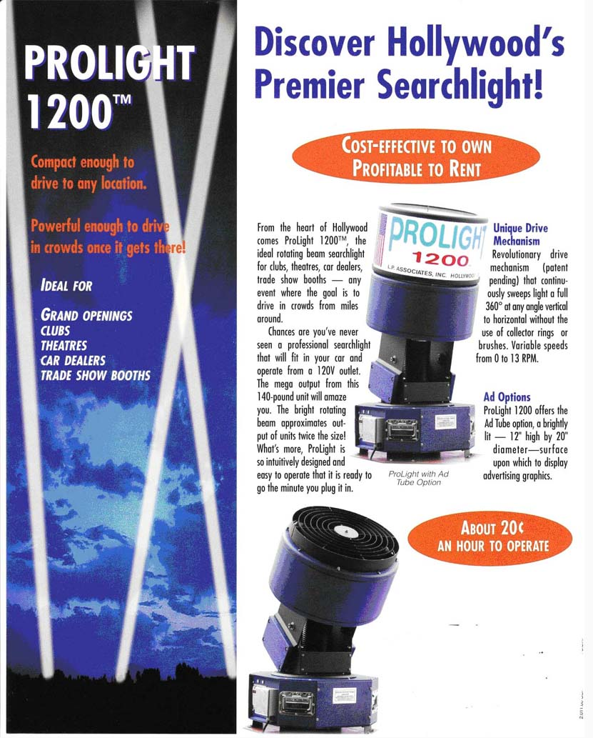 Searchlight Advertising, Spotlights